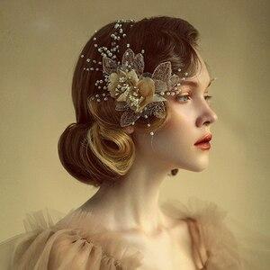 Image 4 - Royal Flower ślubne opaski na głowę tiary miękkie ślubne opaski wieczorowe nakrycia głowy ślubne akcesoria do włosów