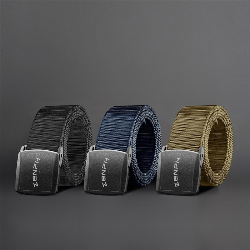 Zenph Tactical Belts Nylon Strap Plastic Steel Buckle Military Waist Belt Adjustable Outdoor Quick Release Hunting Training Belt