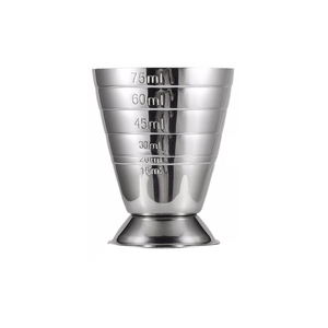 75ML Stainless Steel Measure Cup Cocktail Tool Bar Mixed Drink Accessories 3 In 1 Cocktail Tools Bar Jigger Cup