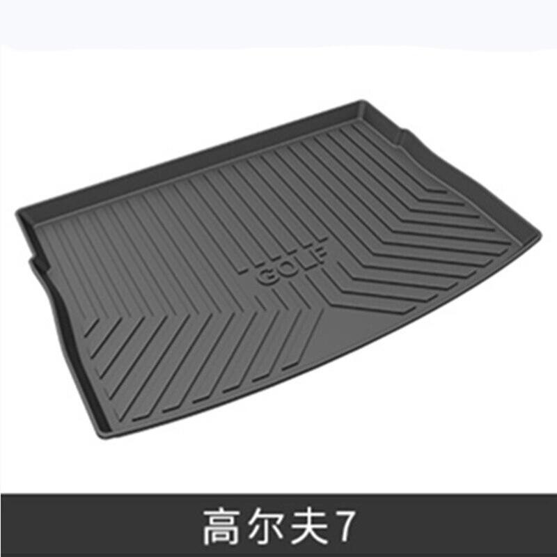 Black Heavy Duty Cargo Floor Mat-All Weather Trunk Protection, Durable HD TPO Fit For VW Volkswagen Golf Sportsvan&Golf MK7/7.5