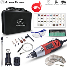 New 260W Mini Electric Drill Engraver Rotary Power Tool Dremel Polishing Machine Grinding Carving Engraving Pen With Accessories