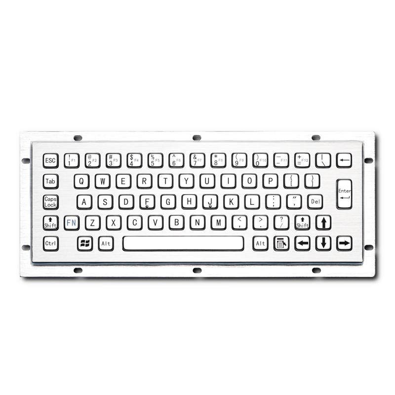 Rugged 65 Keys Waterproof Panel Mount Kisok CNC Machine Stainless Steel Industrial Metal Keyboard
