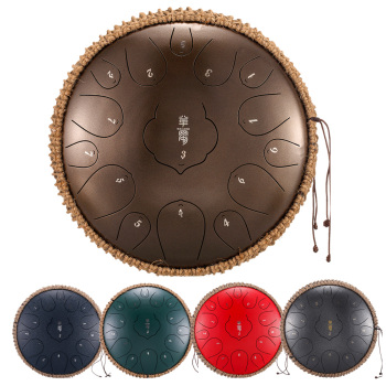 drum NEW Tongue Drum 15 Notes 12.5 Inch Handpan Drum Tank Drum Chakra Drum for Meditation, Yoga and Zen with Travel Bag