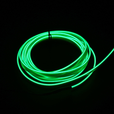 Подсветка для салона автомобиля 1 м/2 м/3 м/5 м полосы Авто Светодиодная лента гирлянда EL провод веревка украшение автомобиля неоновый светодиодный светильник Гибкая канатная трубка - Испускаемый цвет: Зеленый