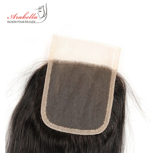 Image 4 - Brazilian Straight Lace Closure 4x4 Lace Closure Straight Remy Hair 100% Human Hair Arabella Pre Plucked Lace Closure