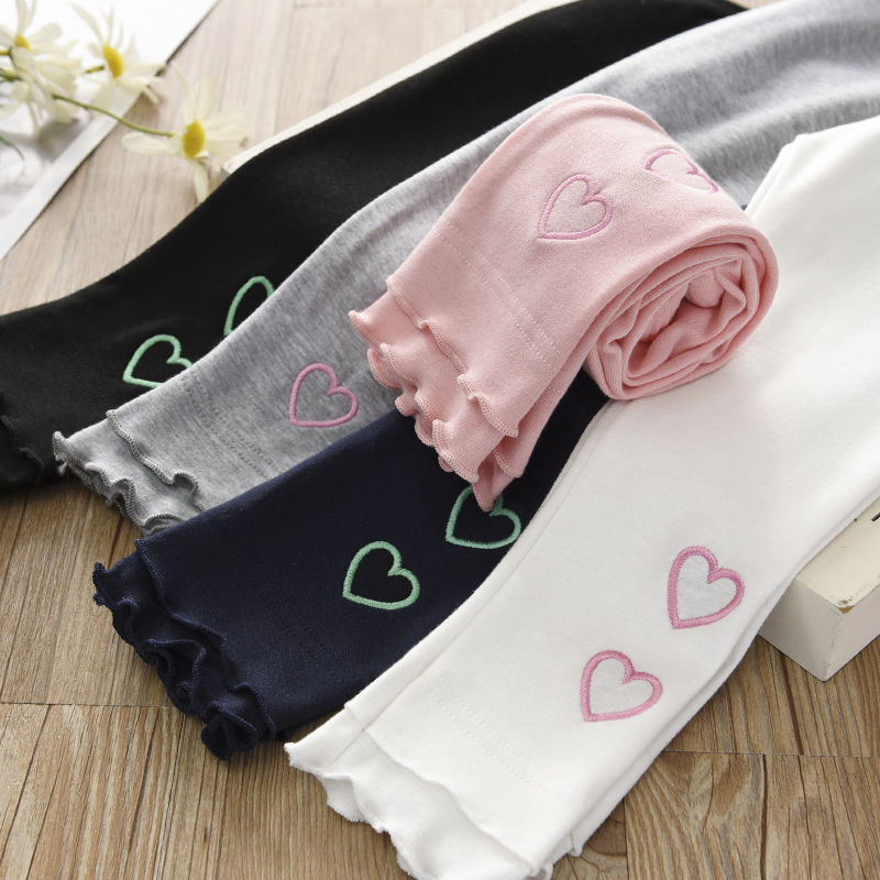 Vidmid Girls Cotton Casual Leggings Cropped Pants Baby Wear Elastic Summer Thin Section Children's Modal  Trousers Clothes P211 2