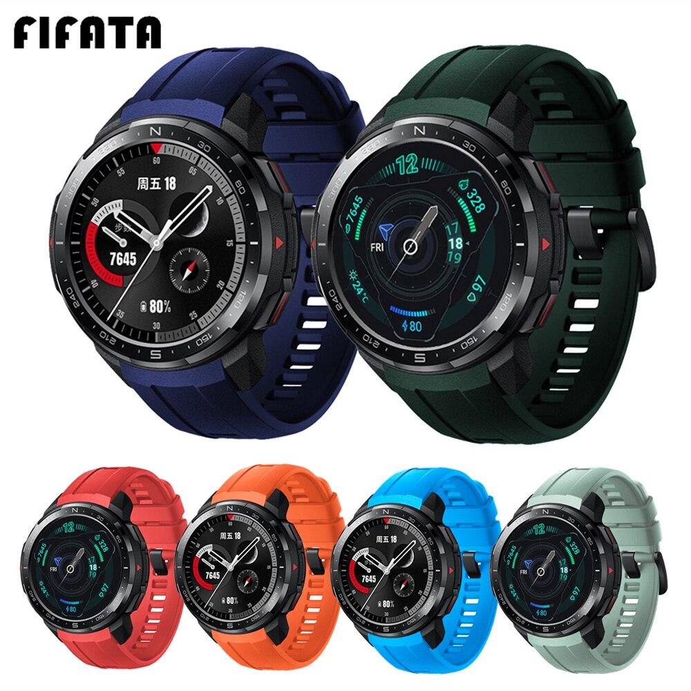 Ремешок силиконовый для Huawei Honor Watch GS Pro, сменный Браслет для наручных часов, аксессуары для Honor GS Pro Correa