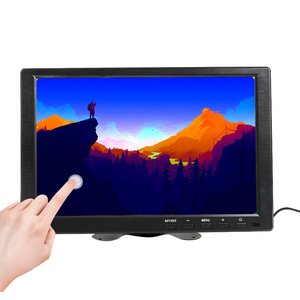 10.1 Inch IPS HDMI Capacitive Touch Screen 1280x800 LED Monitor for PS3 4 Windows 7 8 10 VGA/AV USB Computer LED PC Car Display(China)