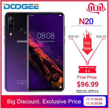 DOOGEE N20 New 2019 Smartphone 6.3inch FHD+ Display 4350mAh 4GB+64GB Octa Core 10w charge Fingerprint 16MP Triple Back Camera - DISCOUNT ITEM  31% OFF All Category