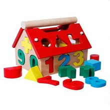 Children's Educational Toys Wooden Digital House Little Wisdom House Cute Digital Pairs Early Learning Educational Toys детская гитара alex toys early learning string farm little han