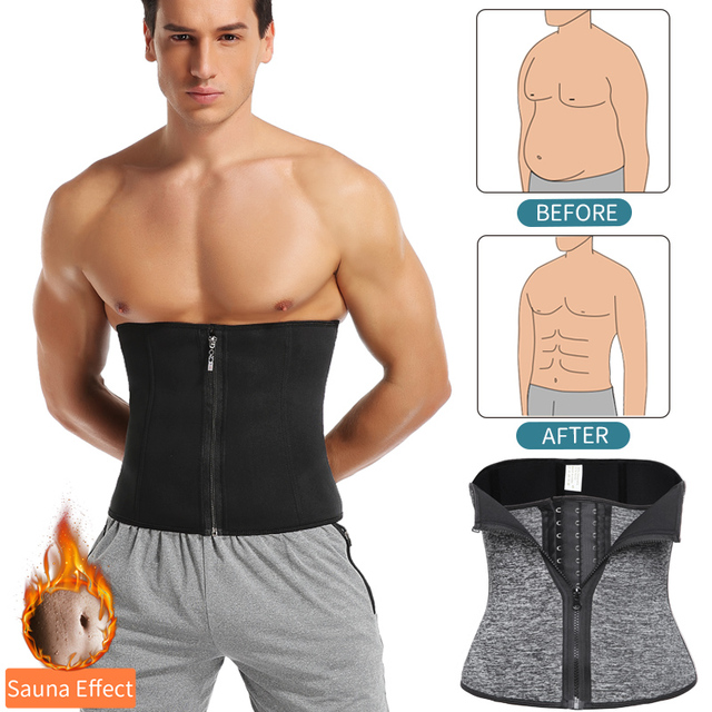 Men Waist Trainer Slimming Body Shaper Weight Loss Shapewear Modeling Belt Belly Shapers Sweat Trimmer Belt Reducing Slim Girdle