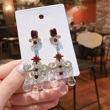 Корейские новые трендовые винтажные Роскошные с блестящими кристаллами