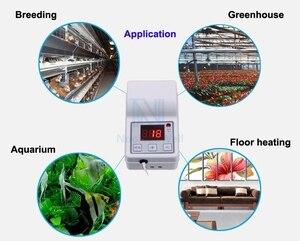 Image 5 - Sera kreş yatak ısıtma teli + sıcaklık kontrol cihazı kiti hava ısıtma kablosu hattı çiçek/sebze/etli bitkiler kış