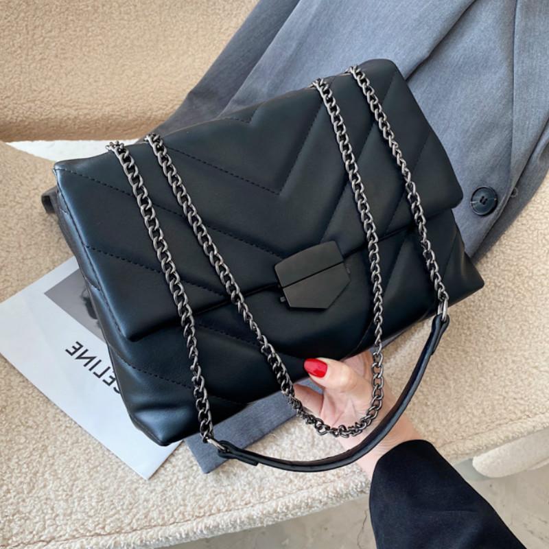 V line Crossbody Bag For Women 2021 Fashion Sac A Main Female Shoulder Bag Female Handbags And Purses With Handle