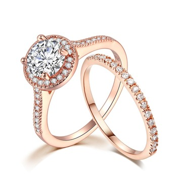 Luxury 925 Silver Ring for Women Engagement Wedding Rings AAA Zircon Diamond Bridal Band Rose Gold Gemstone Fine Jewelry Gift 1