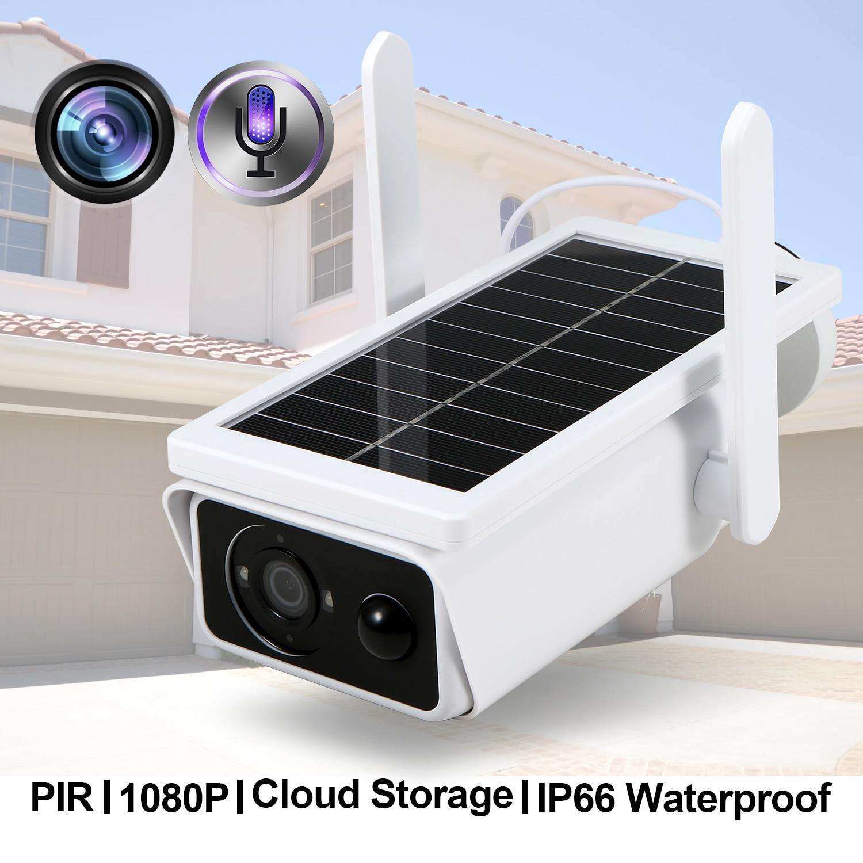 Solar Wifi Kamera 1080P PIR Motion IR Nacht V-ision Unterstützung Cloud Zwei-wege Audio IR Nacht V-ision IP66 solar licht