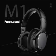 M1 Active Noise Cancelling  Deep Bass Wireless Headphones Bluetooth Headset  Adjustable Earphones With Microphone For PC Phone anc active noise cancelling headphones wired on ear foldable hifi earphones deep bass headset with microphone for mp3 computer