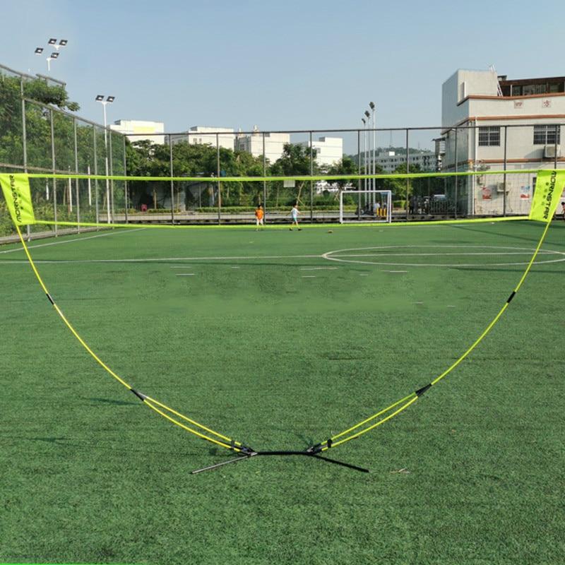 Portable 3 M Badminton Net Professional Badminton Training Square Mesh Volleyball Training Network Outdoor Tennis Net Frame Bag