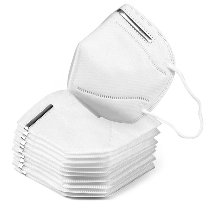 10pcs KN95 Masks Unisex Anti-Dust Mask Adult Vertical Folding Nonwoven  Dust Mask Respirator Mouth Mask Child Mask