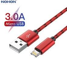 1m/2m/3m Micro USB Ladegerät Kabel Für Huawei P9 Samsung Xiaomi LG Andriod Handy telefon Schnell Lade Herkunft Daten Kabel Lang Kurz