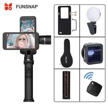 Funsnapจับ 3 สมาร์ทโฟนGimbal Gopro StabilizerสำหรับiPhone Xs Max XRพิกเซลGopro 7 6 5 Y EKEN H9