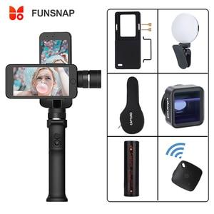 Image 1 - Funsnap Capture cardán para Smartphone de 3 ejes, estabilizador Gopro para iPhone Xs Max XR Piexl Gopro 7 6 5 Y EKEN H9