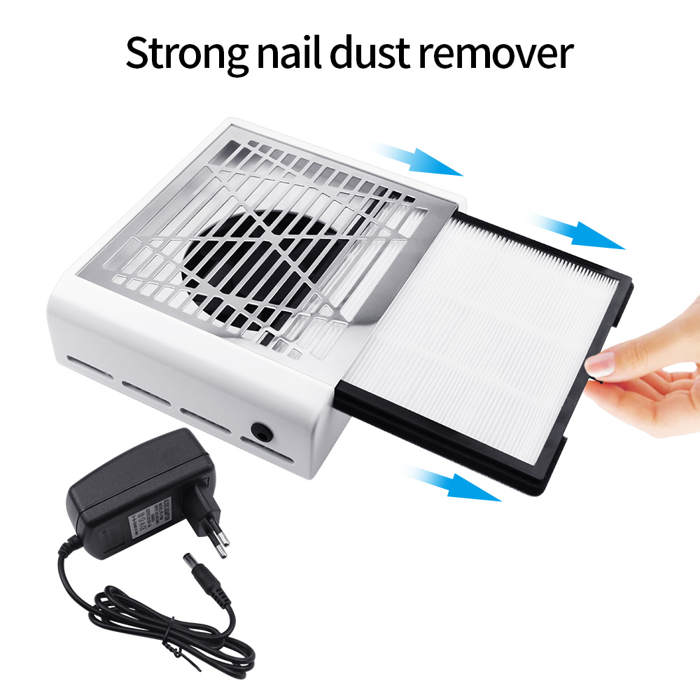 Strong Power Nail Dust Suction Collector 4500rpm nail fan art salon suction dust collector machine Vacuum Cleaner Fan in Nail Art Equipment from Beauty Health