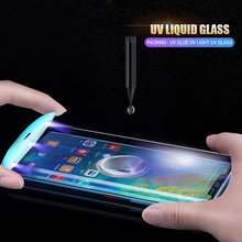 цена на UV Light Full Glue Tempered Glass For iPhone X XR XS MAX Sceen Protector For iPhone 6S 7 8 plus 11 pro Nano Liquid glass film