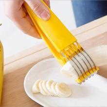 Banana Slicer Green Cut Artifact Fruit Knife Kitchen Gadgets Tools Accessories