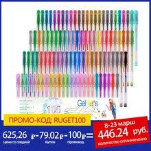 Bolígrafo de Gel para dibujo artístico, marcador de colores para dibujo artístico, brillo neón, regalo escolar para niños, 24/48/100/120