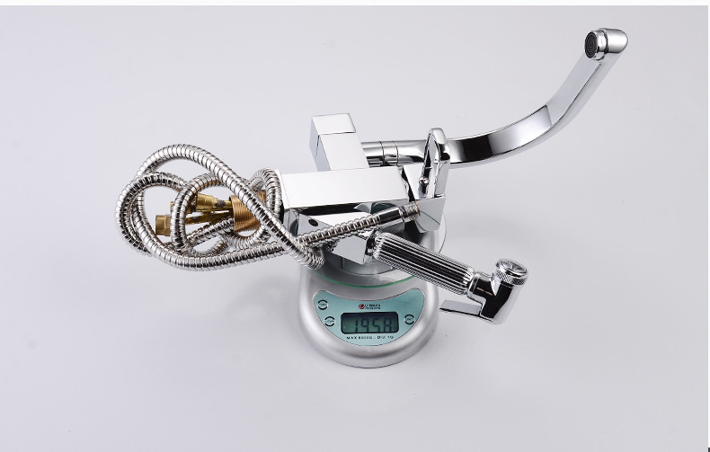 H206411e6e3b44db4b273a4728d2d7a4fi Pull Out 360 Rotation Sink Mixer Washer Household Single Handle Metal Cold and Hot Dishwasher Modern Gold Basin Sink Faucet