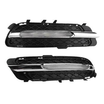 Car LED Daytime Running Lights DRL Fog Lights for Mercedes-Benz W212 E250 E300 E350 2009-2013 2128851574 2128851674