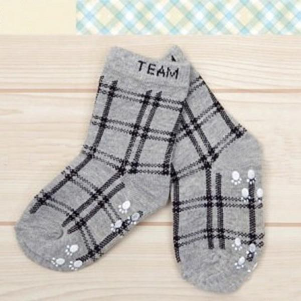 Baby Socks Spring Autumn Baby Boys Infant Cotton Plaid Socks Anti-slip Children Fashion Retro Floor Socks