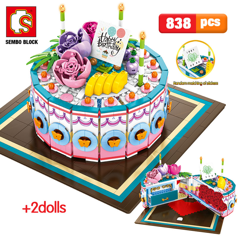 SEMBO New Birthday Cake Building Blocks