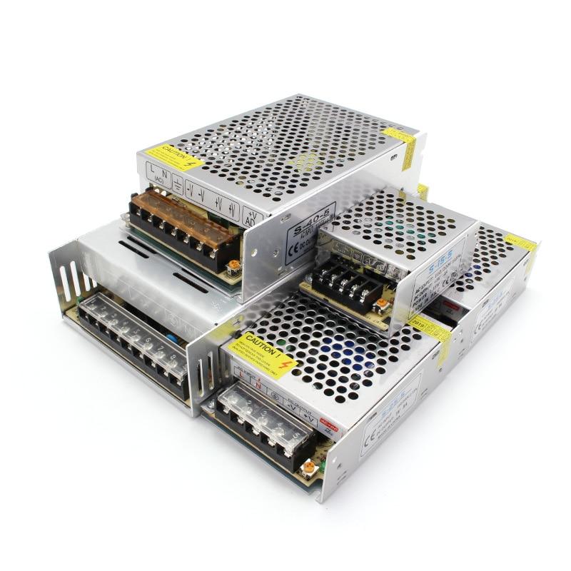 AC DC Transformer 5V 24V Power Supply 12V Alimentation 1A 2A 3A 5A 10A 15A 20A 220V To 12V 3 5 9 15 18 24 36 48 V Power Supply