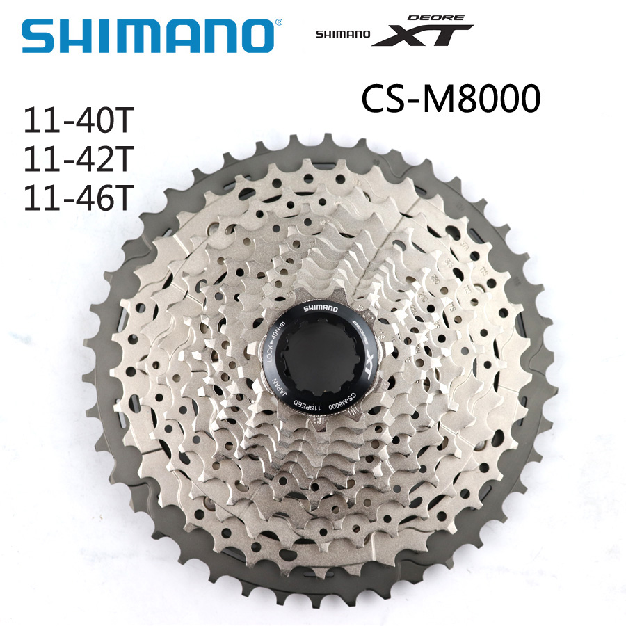 SHIMANO XT CS M8000 CS-M8000 Authentic Cassette sprocket 11S <font><b>Speed</b></font> Freewheel 11-40T 11-42T 11-46T MTB Flywheel Bicycle Parts image