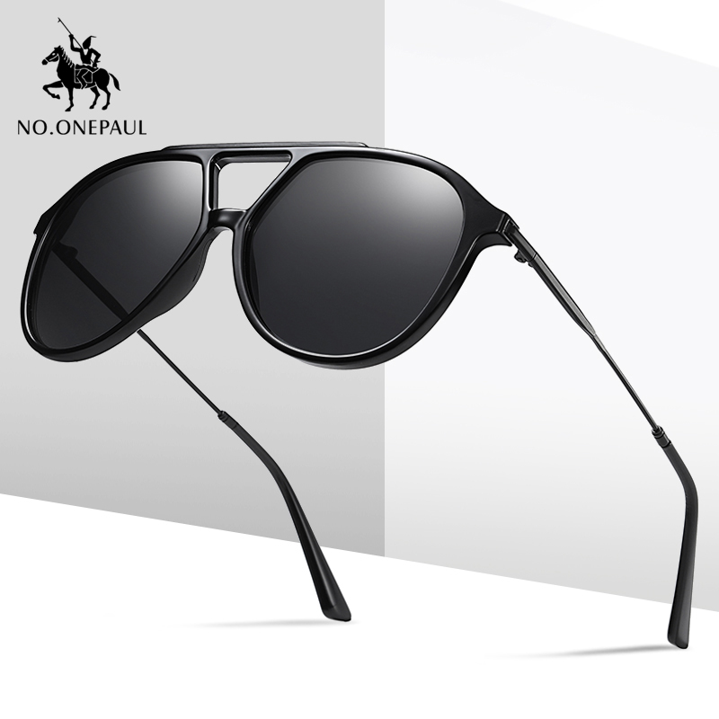 NO.ONEPAUL Fishing Driving Sunglasses Brand NEW Fashion Sunglasses Men UV400 Polarized Square Metal Frame Male Sun Glasses