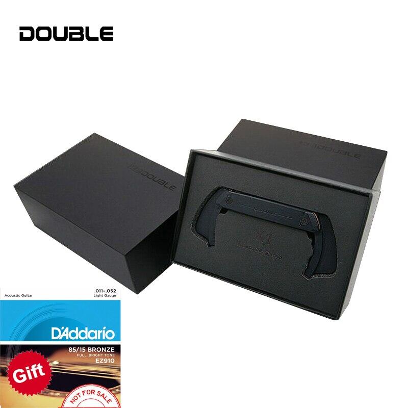 DOUBLE X1 Pro micro guitare acoustique simple Double micros système de préampli éviter l'ouverture cadeau gratuit de ficelle