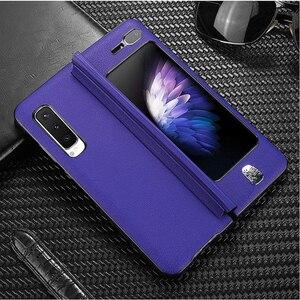 Image 1 - Luxe Leather Case Voor Samsung Galaxy Fold Case Vintage Patroon Volledige Beschermende Plating Hard Cover Voor Samsung Fold Case Coque