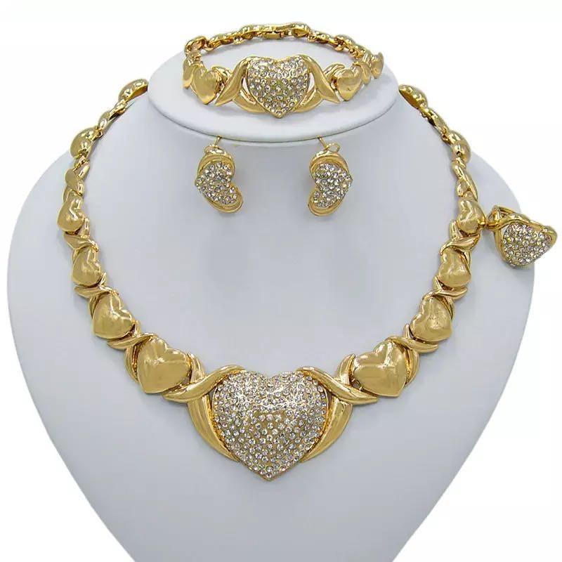 Women Dubai Jewelry Sets Luxury Bridal Nigerian Wedding African Beads Jewelry Set Costume New Design