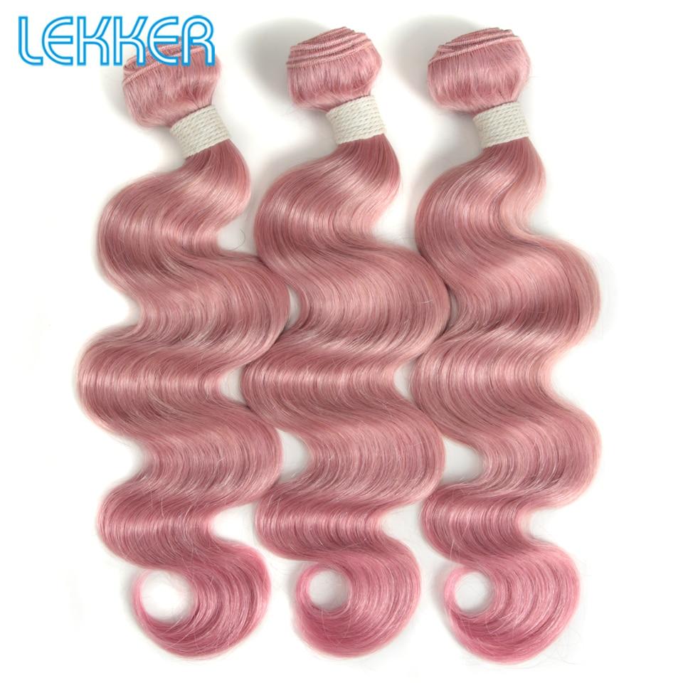 Lekker Pink Hair Bundles Body Wave Brazilian Hair Bundles Remy Human Hair