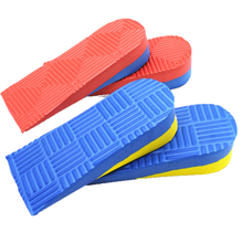 Massage Increased Insole Unisex Invisible Heightening Insoles Coded Heel Pads Increase Half Shoes New Solid Deodorant
