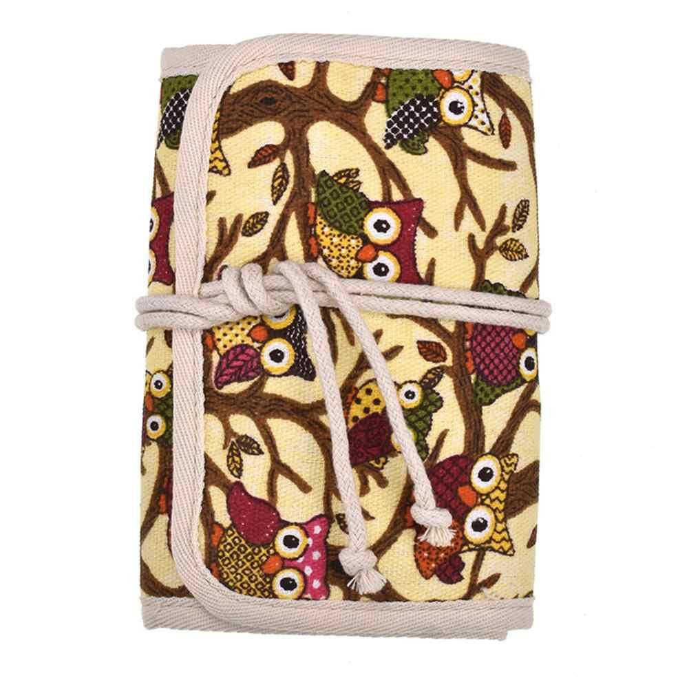 크로 셰 뜨개질 후크 및 뜨개질 바늘에 대 한 빈 주머니 스토리지 가방 가위 눈금자 바느질 도구에 대 한 큰 용량 주최자 스토리지 가방