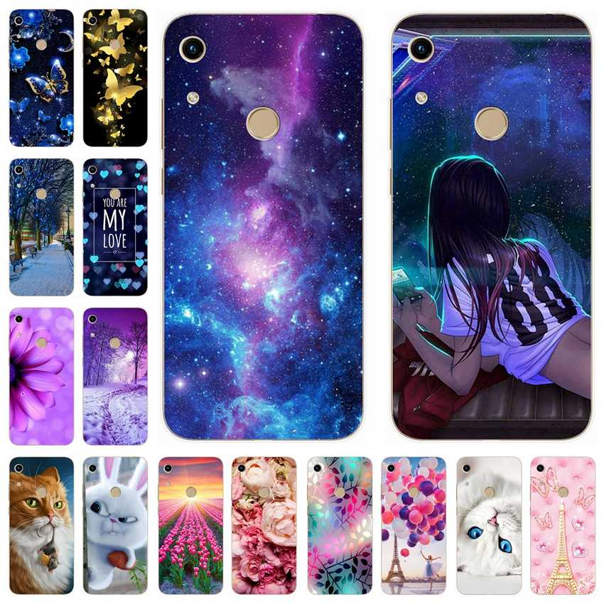 "Silicone Cover For Huawei Honor 8A 6.09"" Case Cover on Honor 8A Cases For Couqe Huawei Honor 8 A Honor 8A JAT-LX1  Fundas Coque"