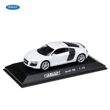 WELLY  1:43 Audi R8  car alloy car model simulation car decoration collection gift toy Die casting model boy toy цена
