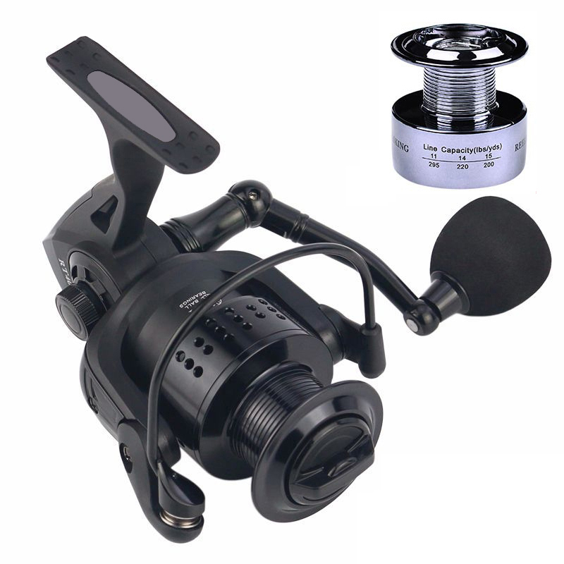 High Quality 13+1BB Double Spool RT Fishing Reel 5.2:1 Gear Ratio High Speed Spinning Reel Carp Fishing Reels Casting reel