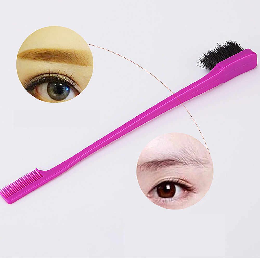 ダブルエンド眉ブラシヘアカットスタイルマジック刃くし散髪ツール美容両面エッジ制御櫛 кисти для макияж