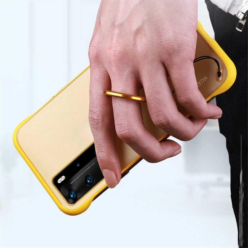 Tanpa Bingkai Matte Phone Case untuk Huawei P40 Pro P30 Lite Penutup Transparan untuk Huawei Honor 20 30 S Nova 5T 7 Pro P Smart Z