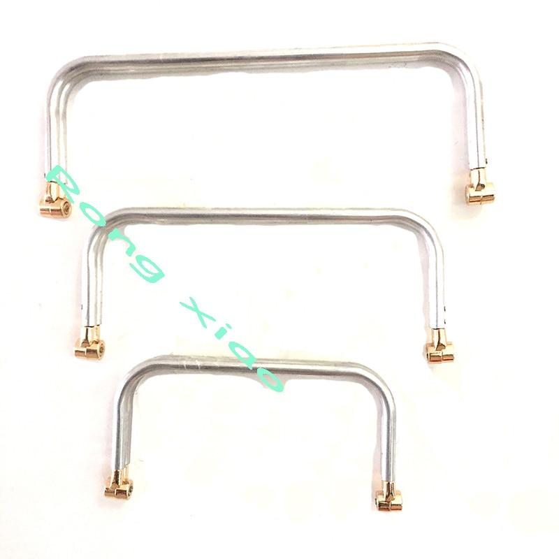 8/10/12/14/16 Inch Metal Frame Aluminum Tubular Internal Hinge Bag Frame Purse Frame