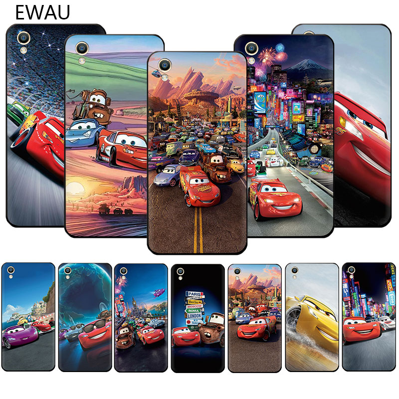 EWAU Cars cartoon movie <font><b>soft</b></font> TPU phone <font><b>case</b></font> for <font><b>OPPO</b></font> R17 R15 F11 Pro R11 R9 S A77 A73 A83 A7 <font><b>A37</b></font> A59 A5 image
